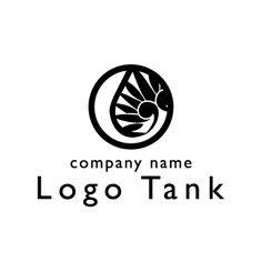 双葉葵の和風シンボルロゴ 家紋ロゴ,日本ロゴ,和ロゴ,京都ロゴ,神社ロゴ,歌舞伎ロゴ,着物ロゴ,和食ロゴ,和モダンロゴ,双葉葵ロゴ