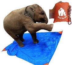 Chill Gorilla Pro Pocket Blanket. 78' x 56'. Compact, lightweight, waterproof. Big enough for an ELEPHANT yet fits in your pocket. RIPSTOP nylon ** Discover this special product, click the image : Hiking gear