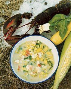 Maine Lobster and Corn Chowder Recipe