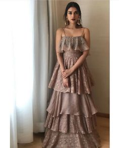 Aditi Rao in Ruffled Dress – Ridhi Mehra Western Outfits Women, Western Wear Dresses, Designer Party Wear Dresses, Indian Designer Outfits, Designer Wear, Stylish Dresses, Casual Dresses, Fashion Dresses, Indian Wedding Outfits