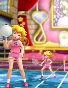 Sporty Peach by deexie.deviantart.com on @deviantART Super Peach, Eye Texture, Sports Mix, Princesa Peach, Shy Guy, Super Mario Bros, Bowser, Daisy, Sporty