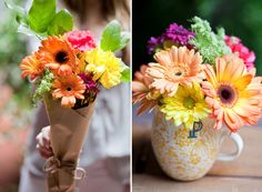sprucing up store-bought flowers - Sugar and Charm - sweet recipes - entertaining tips - lifestyle inspiration