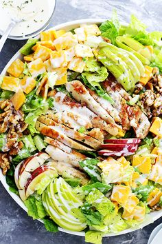 Apples, Cheddar and Walnuts Chicken Salad