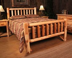 Image result for country log beds