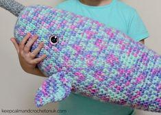 Marriner Yarns | Free Giant Narwhal Amigurumi | Keep Calm and Crochet On U.K Crochet Patterns Amigurumi, Crochet Toys, Crochet Baby, Free Crochet, Knit Crochet, Crotchet, Chunky Yarn, Crochet For Beginners, Tejidos