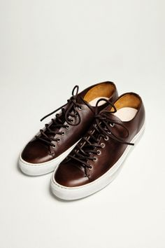 79054bf77 Buttero Tanino Leather Dark Brown Brown Leather Sneakers, Dress With  Sneakers, Shoes Sneakers,