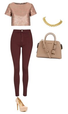 """""""...."""" by luhhbitts on Polyvore featuring Topshop, Glamorous, Jessica Simpson and Michael Kors"""