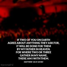 when 2 or more come together in agreement in prayer - Google Search