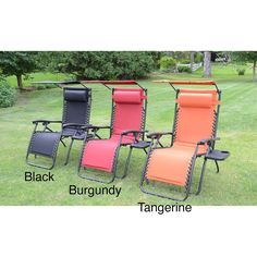 These Foldable Premium Foam Padded Zero Gravity Chairs Come Equipped With  Revocable And Adjustable Headrests,