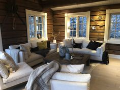 Family Room, Couch, Cabin, Furniture, Home Decor, Decoration Home, Room Decor, Family Rooms, Cabins