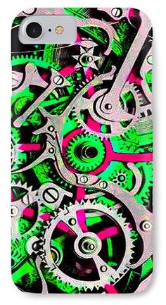 Colorful IPhone 7 Case featuring the mixed media 107 by Otis Porritt