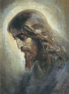 "Nikolaj Andreevich Koshelev (1840-1918), ""Head of Christ"""