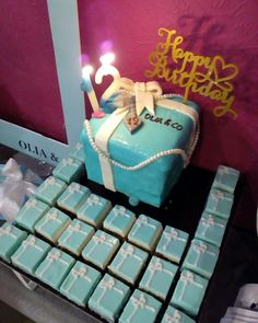 Tiffany's birthday  Tiffany's birthday cake  Tiffany's decoration  Tiffany's boxes