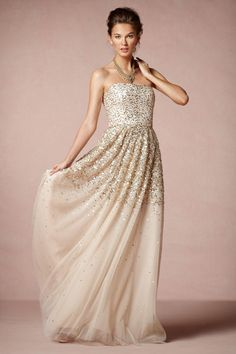 gorgeous gown in champagne