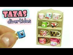 Como Hacer Mini Tazas Divertidas y Estante para Barbie y Otras Muñecas - YouTube