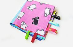 Cute Patchwork Lovey - Tag Blanket  by OmeesBoutique, $14.50