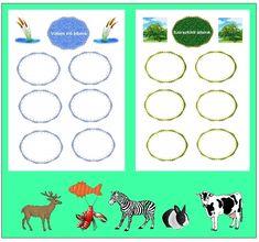 Otthon elkészíthető ovis fejlesztő játék File Folder Games, Worksheets, Kids Rugs, Education, Animals, Dyslexia, Decor, World Discovery, Creative