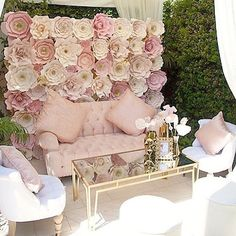 """What a gorgeous setting  On the blog today (click link in profile to see all photos)....a stunning """"tutu sweet"""" baby shower full of amazing details! Trust me on this one, it's an event you mustn't miss! Styled by @serendipity_do!"""