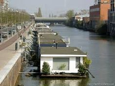 Boat Plans Stitch And Glue Floating Boat, Floating House, Container House Design, Tiny House Design, Luxury Houseboats, Floating Architecture, Houseboat Living, Water House, Boat House