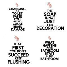 Funny {but true} DIY Bathroom Art {Free Printable} - Nerdy Mamma Ok. This DIY Bathroom Art is SO FUNNY. Diy Bathroom, Funny Bathroom Decor, Bathroom Toilets, Bathroom Humor, Funny Bathroom Quotes, Toilet Quotes, Bath Quotes, Outhouse Bathroom, Bathrooms Decor