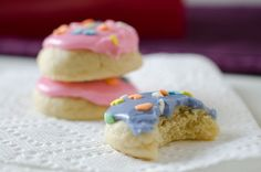 I love these cookies!  Mini Soft Frosted Sugar Cookies