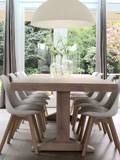Get the modern farmhouse dining room decor ideas from the table, lighting, chairs, and more. Farmhouse Dining Room Table, Dining Room Table Decor, Dining Room Walls, Dining Room Lighting, Dining Room Design, Living Room Decor, Dinner Room Table, Room Chairs, Dining Room Inspiration