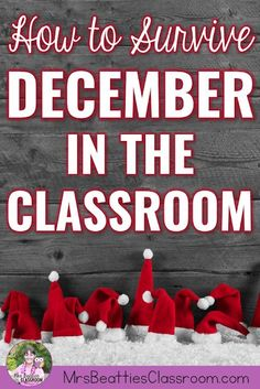 The Christmas season in an elementary classroom is a chaotic space full of energy, emotion, and definitely teacher exhaustion! Gather a few tips, art activities, language arts and math resources, and a freebie to survive December in the classroom right here! #classroom #christmasactivities #seasonalactivities #december #teaching