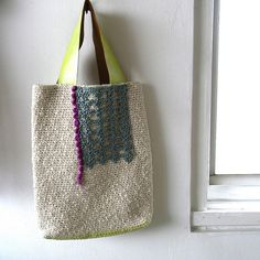 Crochet bag WT-2 by abeam, via Flickr - for inspiration