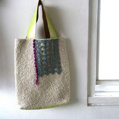 Crochet bag WT-2 by abeam, via Flickr - for inspiration