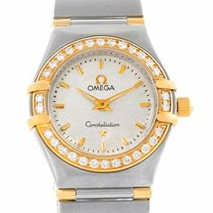 Women's Certified Pre-Owned Watches - Omega Constellation quartz womens Watch 12773000 Certified Preowned >>> Check out the image by visiting the link.