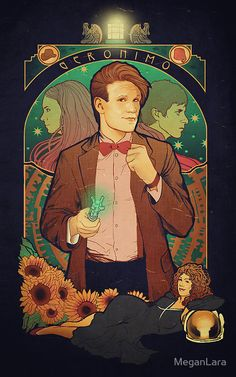 Geronimo by Megan Lara.  http://www.meganlara.com/    DOCTOR WHO / ELEVEN / 11 / AMY POND / RORY WILLIAMS / RIVER SONG