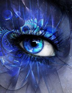 Electric Blue Eyes ༺ß༻ Pretty Eyes, Cool Eyes, Beautiful Eyes, Beautiful Pictures, Crazy Eyes, Love Blue, Eye Art, Shades Of Blue, Cool Art