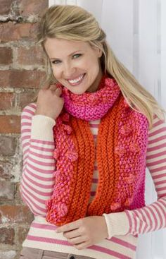 Free Knitting Pattern - Scarves: Fashion Bobble Scarf