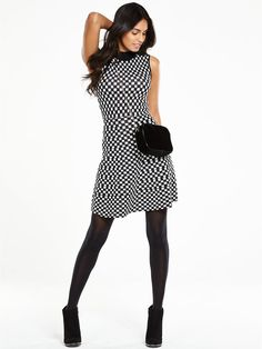 Monochrome Knitted Fit and Flare Dress, http://www.very.co.uk/v-by-very-monochrome-knitted-fit-and-flare-dress/1600105714.prd