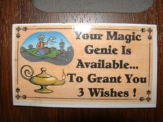 Magic Genie Refrigerator Magnet Business Card Size by Kats3meows, $4.99