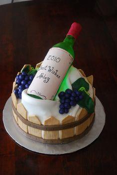 Wine Bottle Cake More Birthday