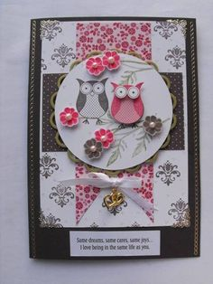 SUP!) Punch Bunch, Simple Friendship, Field of Flowers    Paper: DSP    Ink: Chocolate Chip, Regal Rose, Pear Pizzazz    Accessories: Ribbon, Charm, Pearls