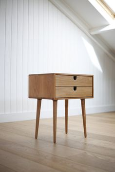 MidCentury Scandinavian Side Table / Nightstand Two by Habitables, €335.00