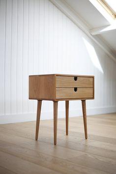 MidCentury Scandinavian Side Table / Nightstand Two by Habitables, €335.00