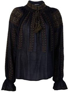 Antik Batik Blouses for Women Ethnic Outfits, Boho Outfits, Vintage Outfits, Fashion Outfits, Folk Fashion, I Love Fashion, Moda Popular, Embroidered Clothes, Traditional Fashion