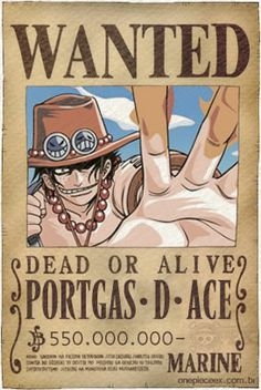 Portgas D Ace Wanted