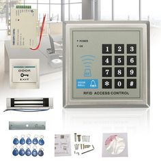 Electric RFID Access Control ID Password Safty Entry System Door Lock Magnetic Set