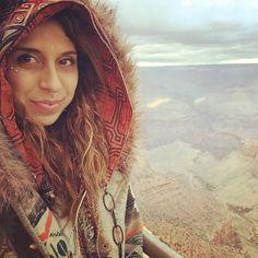 Grand Canyon wearing TheBlackSheepMarket Shipibo Hood