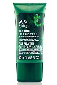 Get Smooth Skin: The Body Shop Tea Tree Pore Minimiser.