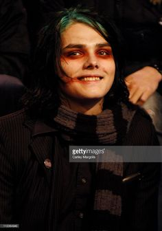 Gerard Way of My Chemical Romance during My Chemical Romance Visits Fuse's 'Daily Download' - November 24, 2004 at Fuse Studios in New York City, New York, United States. (Photo by Carley Margolis/FilmMagic)