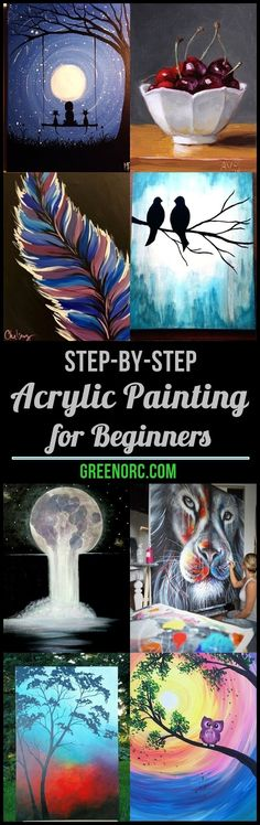 Painting ideas on canvas for beginners acrylics step by step ideas for 2019 - Painting Subjects Canvas Painting Tutorials, Acrylic Painting For Beginners, Simple Acrylic Paintings, Acrylic Painting Techniques, Beginner Painting, Diy Canvas Art, Acrylic Painting Canvas, Diy Painting, Canvas Ideas