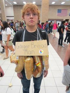 'Halloween Costumes For Inanimate Objects'  GINGER BREAD MAN