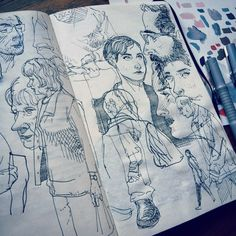 jaredmuralt: Warm up #sketches in my #Moleskine #sketchbook