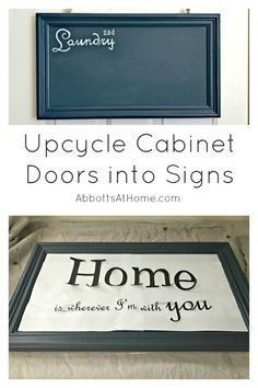 Upcycle Cabinet Doors into a Chalkboard or Painted Sign