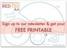 Free Printable Teacup pattern
